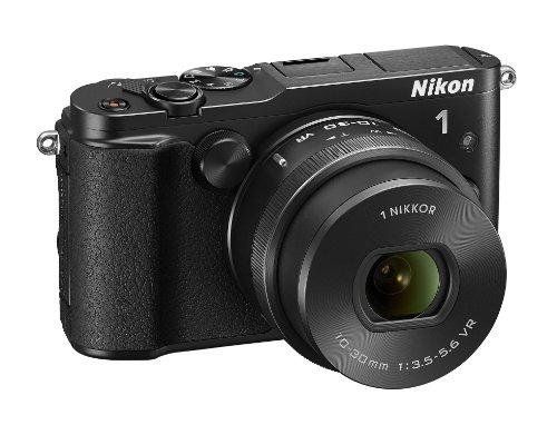 """Nikon 1 V3 - Cámara EVIL de 18.4 Mp (pantalla táctil 3"""", estabilizador óptico, grabación de vídeo), negro[importado]"""