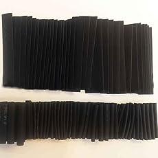 InisIE 127PCS Schwarz Kleber Wetterwärmeschrumpfschläuche Isolierschläuche Rohr Sortiment Kit Set