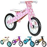 Vélo en Bois boppi pour développer l'équilibre de 2 à 5 Ans Fleur Rose