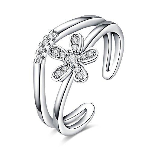 Fashion popular anello, Rose Gold Plated, regolabile