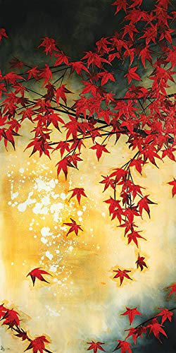 El Arte Grupo Lily Greenwood (japonés) de Arce-Lienzo Decorativo (50x 100cm), Madera, 50x 100x 1,3cm