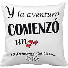 Regalo para tu pareja por San Valentín o vuestro aniversario: cojín Amor personalizado