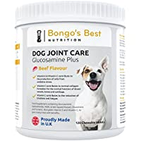 Cuidado de las articulaciones de perros de Bongo's Best – Suplemento de glucosamina y mejillón de labio verde de máxima calidad para perros de todo tamaño y edad