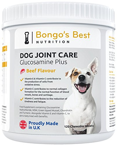 Bongo's Best Dog Joint Supplements by Premium Glucosamine & Green Lipped Muscle Supplement for Dogs of all Sizes and Ages – Young or Old, Large or Small