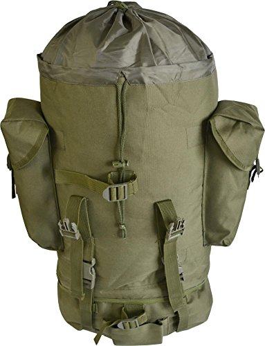Kampfrucksack, ideal zum Wandern, großes Fassungsvermögen, 65 Liter, viele Taschen OLIV