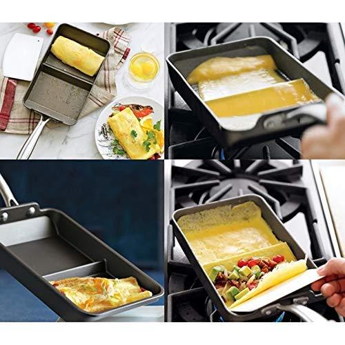Zonster 1pc Mini Rectangulaire Japonaise AntiadhéSifs PoêLéEs GâTeau Rouleau D'Oeufs CrêPes Non-BâTon Smokeless Bacon Frying Pan