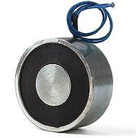 WEONE gran alcance del reemplazo de plata DC 12V corte electroimán solenoide 49 mm OD 40Kg 400N