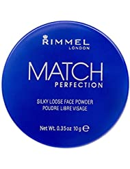 Rimmel London Match Perfection Silky Loose Face Powder, 001 Transparent, 10 g