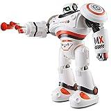 AIMEE7 JJRC R1 Robot Robot Que Baila Inteligente Robot De Juguete Para NiñOs Control Remoto ElectróNico Baile Paseo Infrarrojo Eps Polietileno Cobre Tiro Robot Juguetes ElectróNicos (27*12.5*33cm, naranja)