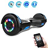 Hoverboards 6.5' Balance Board Patinete Eléctrico Scooter Talla LED 350W*2 (Black, 6.5)