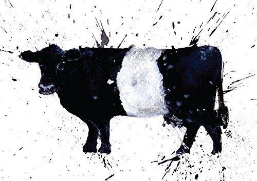 Mit Gürtel Galloway oder Kuh Grußkarte/Karte, aus einem Originalgemälde von Clare Brownlow. gedruckt auf hochwertigem Künstler Karte Briefumschlag im Lieferumfang enthalten. blanko auf der Innenseite für jede - Kuh Grußkarten
