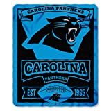 NFL MARQUE Fleece Decke 152 x 127 cm Carolina Panther