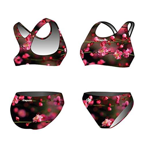 Diapolo Blossom Flower Sport-Bikini Zweiteiler aus der Spring Kollektion für Schwimmen Synchronschwimmen Wasserball Thriathlon normale Träger