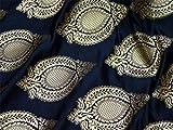 Balck Banarasi Mischseide Brokat für Hochzeit Brautkleid
