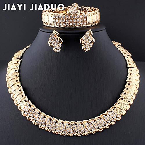 MUATE Hochzeitsschmuck Dubai Gold Farbe Schmuck Sets Romantische Farbe Design Schmuck Sets Halskette
