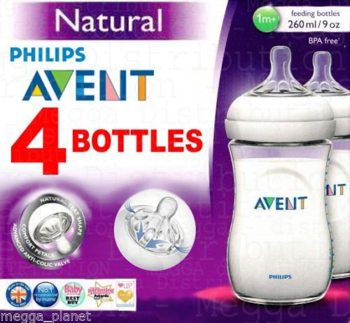 4 x biberon Philips Avent 260ml gamma Natural –...
