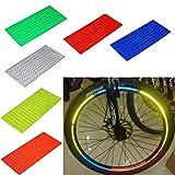 48Stripes 6couleurs Roue de vélo réfléchissant RIM Stickers de sécurité VTT Vélo Moto Jante de roue Réflecteur ruban adhésif autocollant