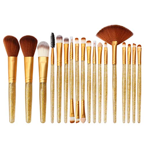 Dorical 18 Stück Make up Pinsel Set/Professionellen Kosmetikpinsel Cosmetics Pinselset Schmink Pinselset Zweiseitiges/Blending Brush Flach, Rund, Lippen, Präzisions,Mini-Pinsel