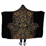 RESUXI meerjungfrau Decke Frauen,Kapuzen-Umhangdecke verdickte Einzeltuch-Umhangdecke mit Kapuze-D_200 * 150CM