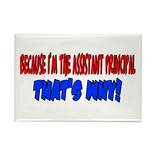 cafepress - Because I'm the Assistant principal Rectangle magn - Rectangle aimant