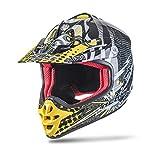NENKI casco motocross bambino NK-303, ECE Approvato (Giallo, XS 53-54CM)