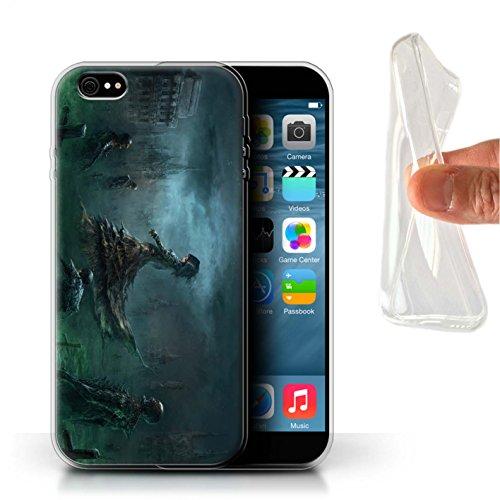 Offiziell Chris Cold Hülle / Gel TPU Case für Apple iPhone 6+/Plus 5.5 / Hades/Phantom Muster / Unterwelt Kollektion Banshee/Hexe-Königin
