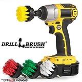 Drillbrush Round Scrub brosse en nylon avec arbre pour Drill
