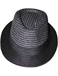 64fb1fbb92394 Sombrero Fedora Trilby Para Hombre Con Borde Ancho Negro