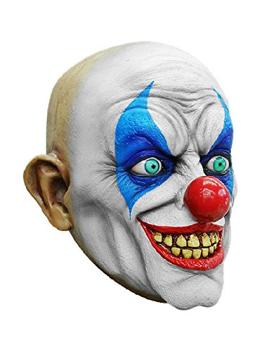 Psycho Clown Maske des Grauens zum Horrorclown Kostüm Halloween (Horrorclown Kostüme)