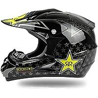 DUEBEL Rockstar - Casco de Motocicleta para BMX/Downhill/Cross País/Dirt Bike