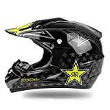 Casco Moto Rockstar DUEBEL per BMX / Downhill / Cross-country / Dirt Bike / Motocross (Nero, S)