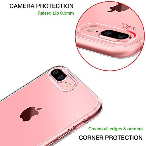 iPhone 8 Plus Hülle, TrendyBox Flexibel TPU Gel IMD Transparent Schutzhülle für iPhone 7 Plus und iPhone 8 Plus mit Gehärtetem Glas Displayschutzfolie (Kirschblüte und schwarz Katze) Klavier