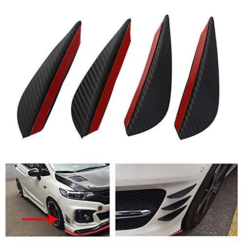 Konesky 4PCS Car Spoiler Canards Parachoques delantero Body Spoiler Canards Universal ABS...