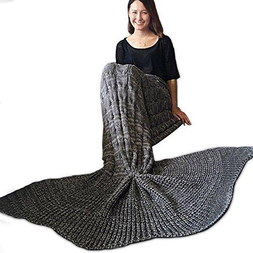 MIRRAY Mermaid Blankets, Knitting Wool Blankets Blanket Fish Tail