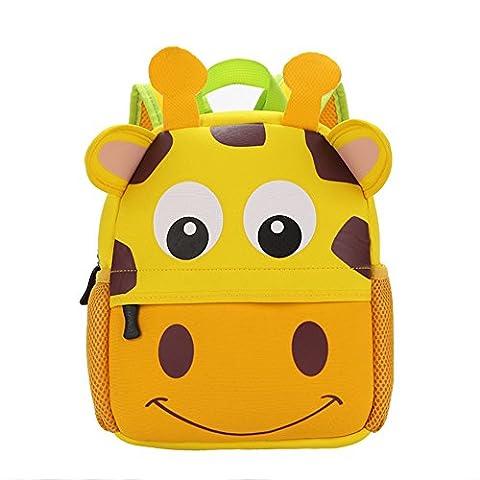 Moolecole Karikatur Kindergarten Rucksack Tierschultasche Wasserdicht Atmungstasche Giraffe