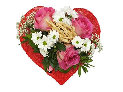 """floristikvergleich.de Blumenstrauß """"Sweet Love"""" VERSANDKOSTENFREI + kostenlose Glückwunschkarte (Lieferung: sofort)"""