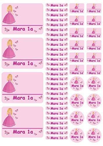 Mein Zwergenland Namensaufkleber Stickerbogen Prinzessin
