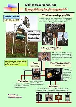 Selbst Strom erzeugen II: Die eigene Windstromanlage mit einem Langsamläufer-Windrad preiswert und umweltschonend bauen