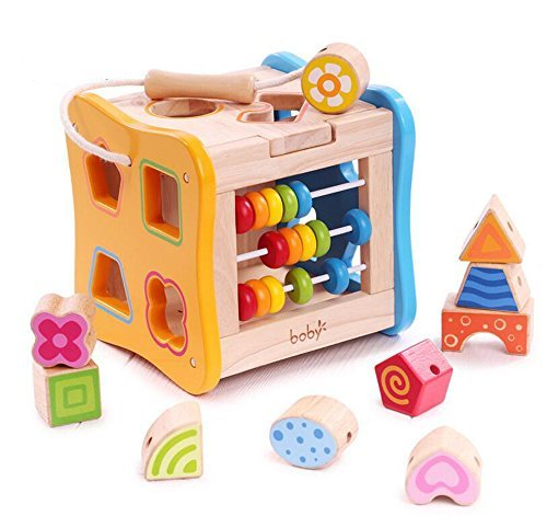 Giocattolo in legno educativo - cubo in legno attività didattiche - giocattolo per bambini dai 3 anni - regalo perfetto per compleanno e natale
