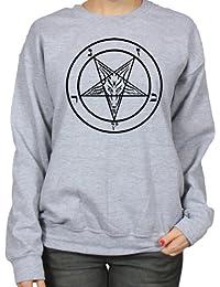 Pentagram Gothic Occult Satan Cult Horror Art Womens Sweatshirt