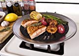 Stove Top Smokeless Grill Indoor BBQ - High Quality Stainless Steel with Double Coated Non Stick Grilling Surface by Kitchen+Home