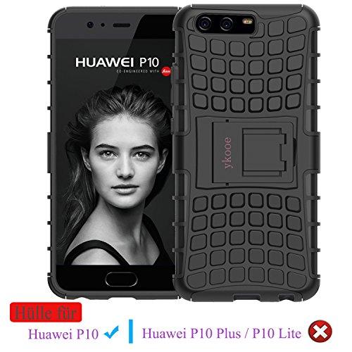Huawei P10 Hülle, ykooe (TPU Series) Huawei P10 Dual Layer Hybrid Handyhülle Drop Resistance Handys Schutz Hülle mit Ständer für Huawei P10 [5,1 Zoll]