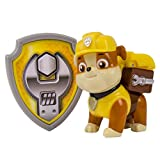 Paw Patrol - Action Pack Rubble Figur und Abzeichen [UK Import ]