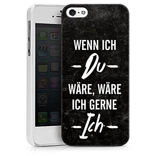 Apple iPhone X Silikon Hülle Case Schutzhülle Spruch Statement Humor Hard Case weiß