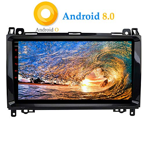 XISEDO Android 8.0 Autoradio In-Dash 9 Zoll Car Radio 8-Core RAM 4G ROM 32G Autonavigation Car Radio mit 1024 * 600 Touch Screen für Mercedes-Benz A-W169, B-W245, Viano, Vito, Sprinter (Autoradio)