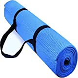 Effingo Yoga and Exercise mat of 3 mm (Blue) Yoga Mat with Yoga Mat Carry Strap 100% Eco Friendly