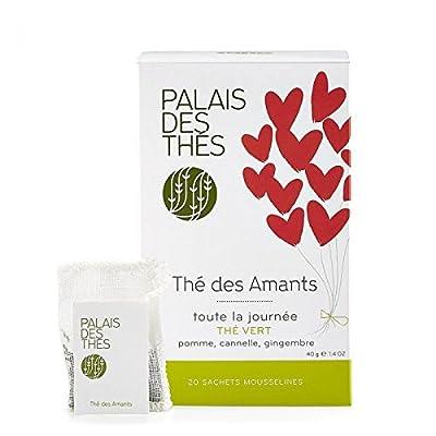"""Palais des Thés - Thé Vert """"THE DES AMANTS VERT"""" - 20 sachets mousselines"""