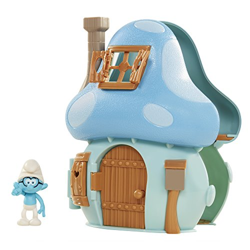 The Smurfs Pitufos Casa Seta de Juguete con Brainy
