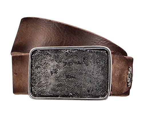 LLOYD Men's Belts Gürtel Herrengürtel Ledergürtel Büffelleder Beige 4331, Farbe:Braun, Länge:85 cm