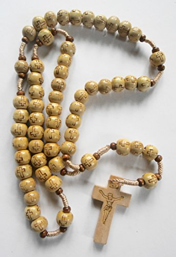 United UNL: Holy Land Jerusalem Beautiful Rosary. Best for Wearing Around Your Head, Hanging in Car etc. Size: Adults. Item# GRSBI-030